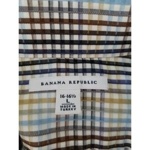 Banana Republic Shirts - Banana Republic Shirt Sz L 16-16 1/2  Blue Tan
